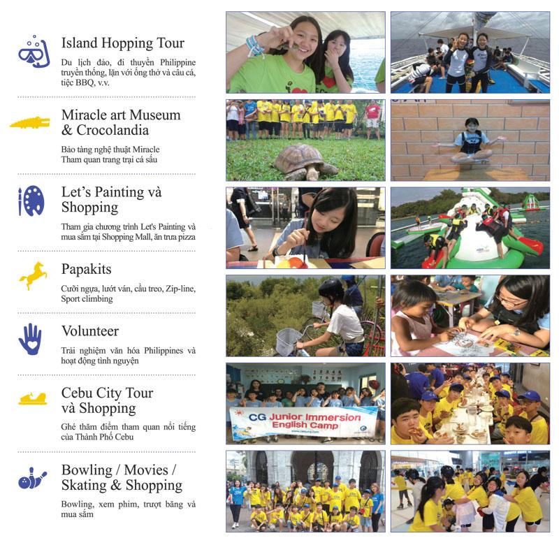 Du học hè Philippines 2019 tại trường anh ngữ CG