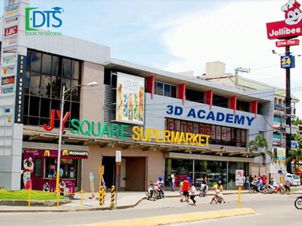 Trường anh ngữ 3D Academy có trụ sở chính tại khu vực trung tâm thương mại JY ở thành phố Cebu, Philippines.