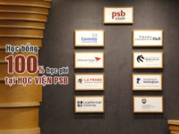 Cơ hội nhận học bổng du học Singapore 100% học phí tại Học viện PSB
