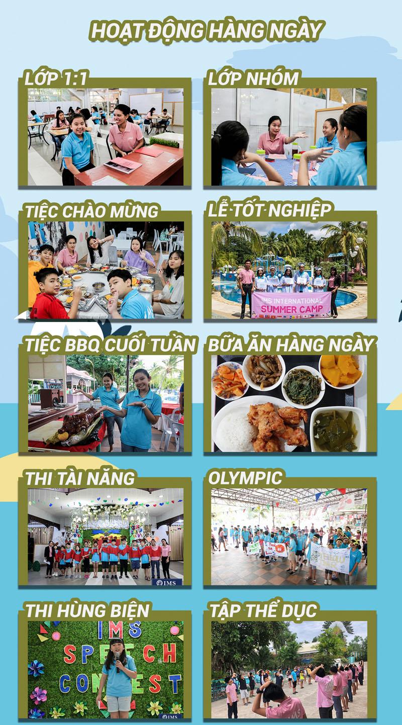 Hoạt động hàng ngày của Trại hè tiếng anh IMS 2020