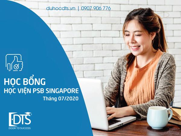 Cập nhật Học bổng Học viện PSB Singapore tháng 07.2020