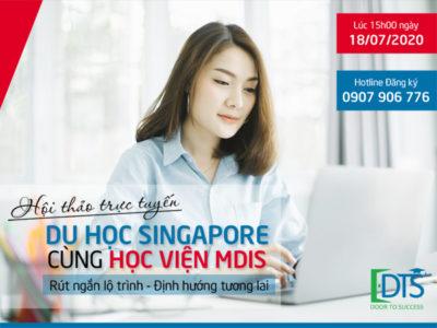 Hội thảo trực tuyến Du học Singapore 2020 cùng Học viện MDIS