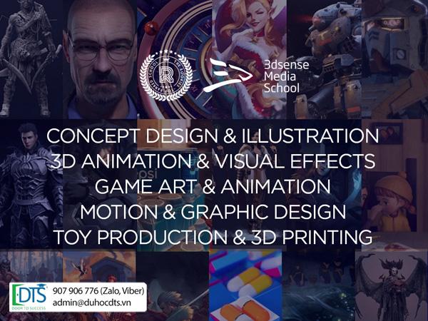 Khóa học online khối ngành Thiết kế tại Học viện 3Dsense Singapore