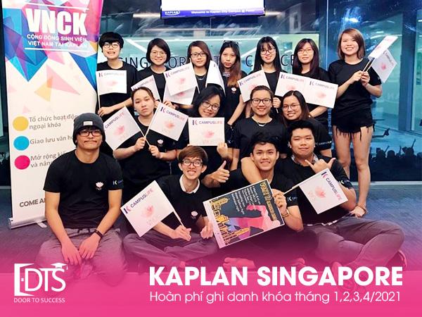 Hoàn phí đăng ký Học viện Kaplan Singapore 2021